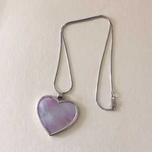 Jewelry - Heart mother pearl necklace sterling